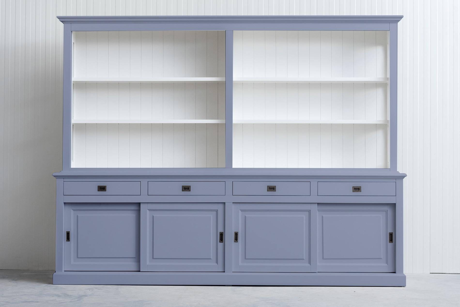 landelijke boekenkast bo 3m grijs
