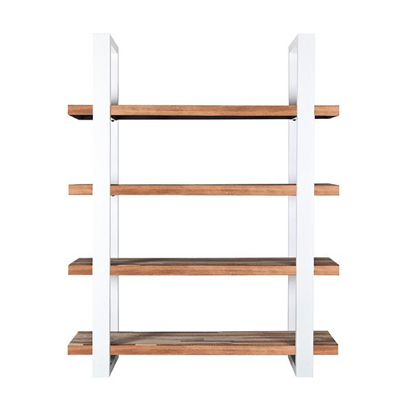 Boekenkast Mango 160cm met metalen frame Wit.