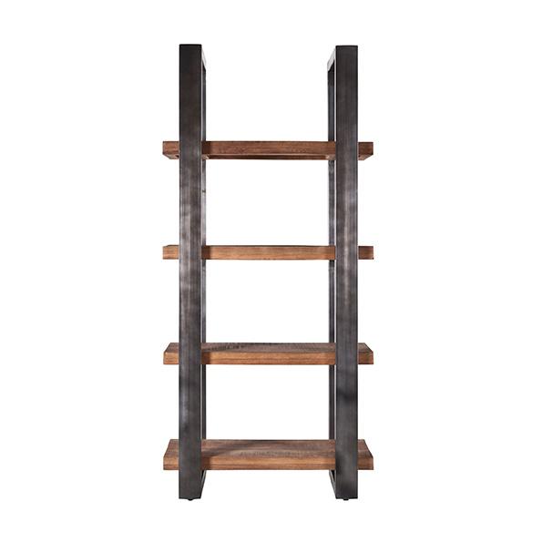 Boekenkast Mango 94 cm met metalen frame Zwart.
