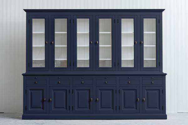 Landelijke Buffetkast Bo 2x6-deuren 6-laden Leigrijs
