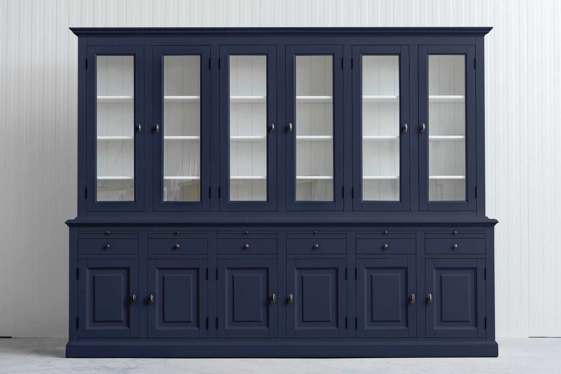 Landelijke Buffetkast Bo 2×6-deuren 6-laden Leigrijs