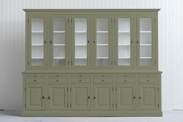 Landelijke Buffetkast Bo 2x6-deuren 6-laden Rietgroen