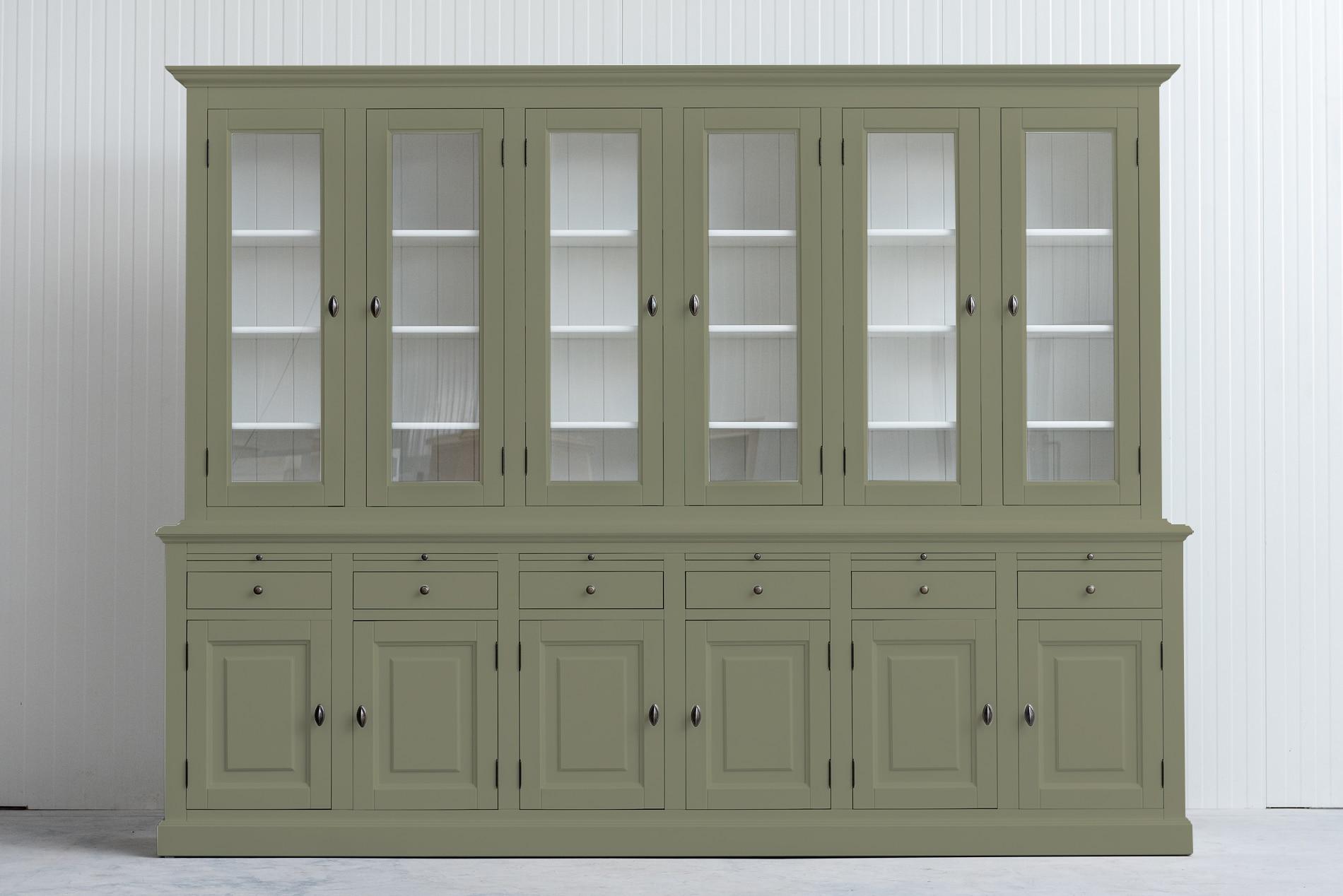 Landelijke BuffetkRietgroenast Bo 2×6-deuren 6-laden
