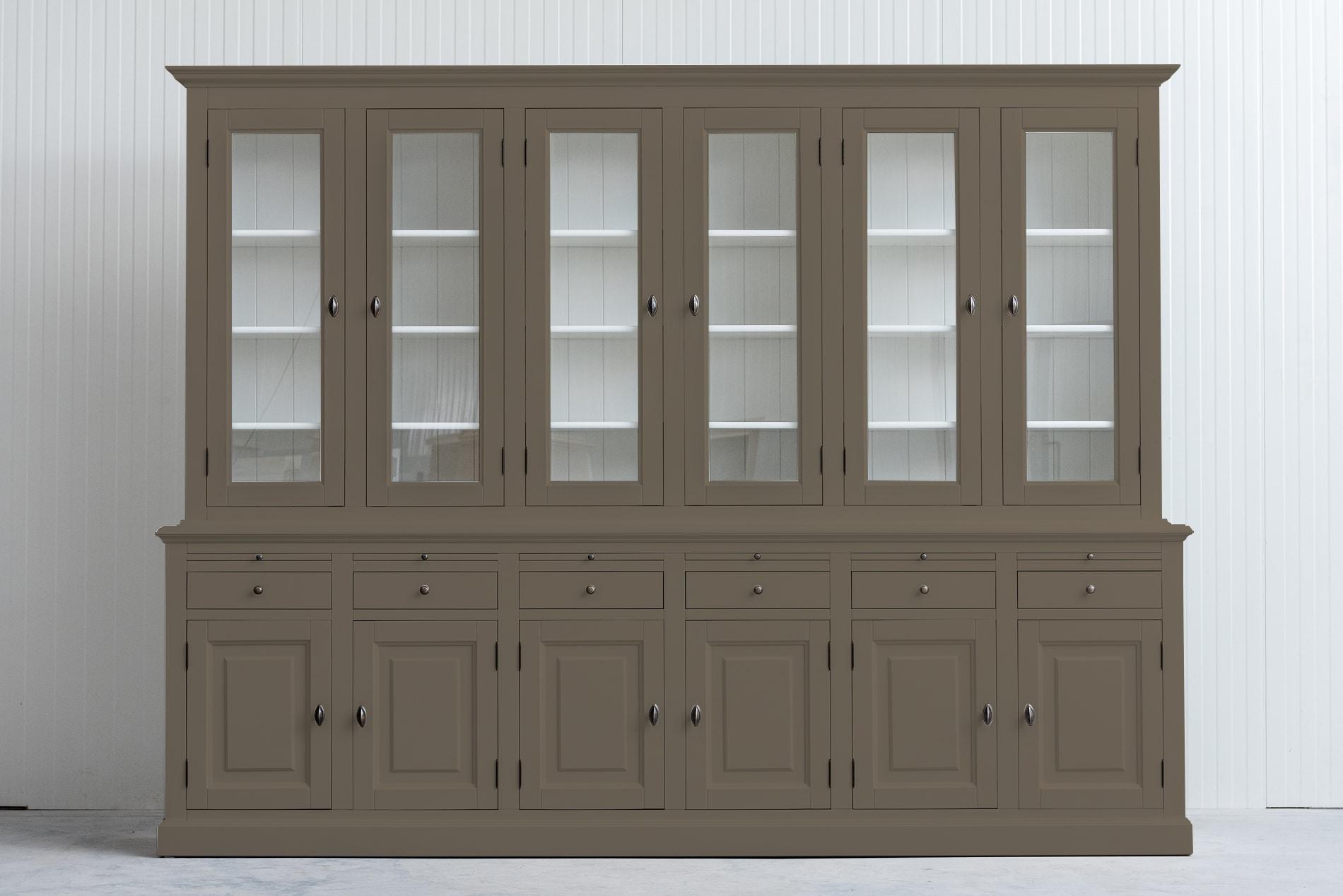 Landelijke Buffetkast Bo 2×6-deuren 6-laden Olijf