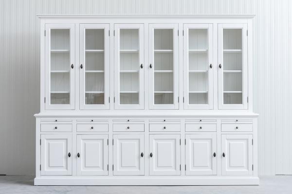 Landelijke Buffetkast Bo 2x6-deuren 6-laden wit