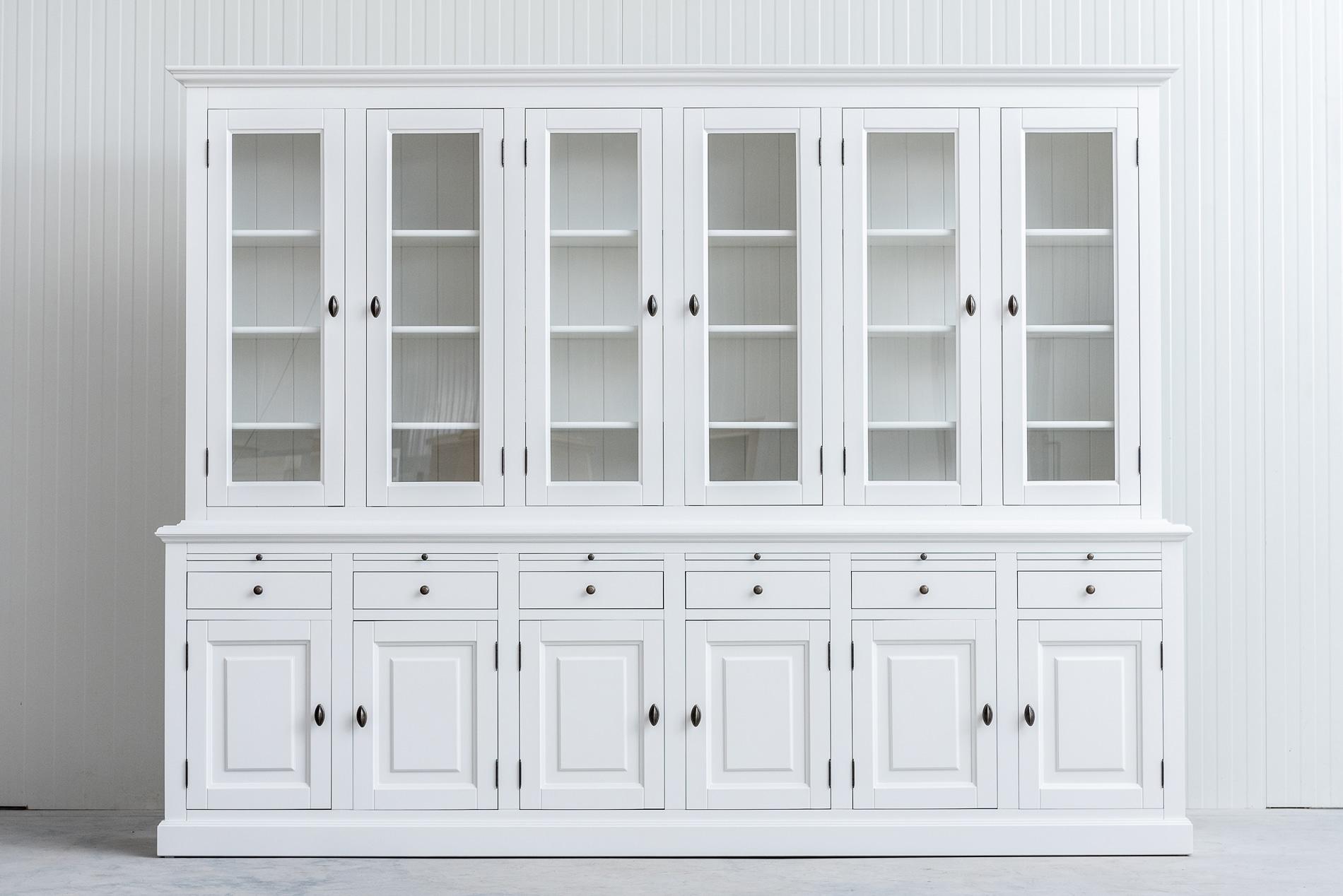 Landelijke Buffetkast Bo 2×6-deuren 6-laden wit