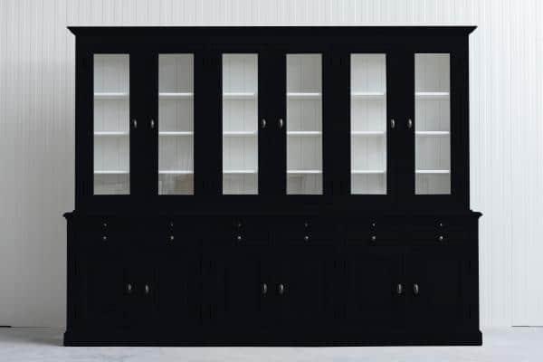 Landelijke Buffetkast Bo 2x6-deuren 6-laden Zwart