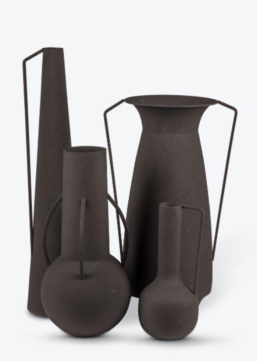 Vase Black - set van 4