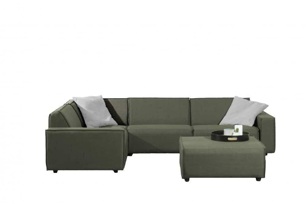 Bubalou-6-zit-hoek-met-hocker-groen-L