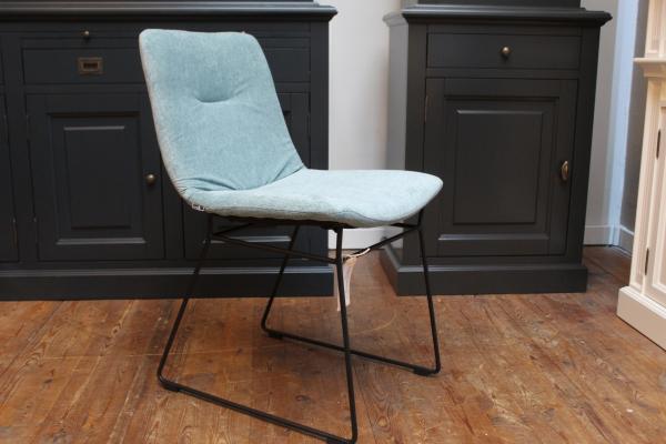 Eetkamerstoel Struys set van 4 - kleur  azuurblauw - Prijs is voor stoel per stuk