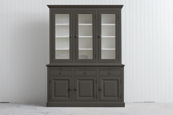 Landelijke Buffetkast Bo 2x3-deuren 3-laden Kwarts -Grijs