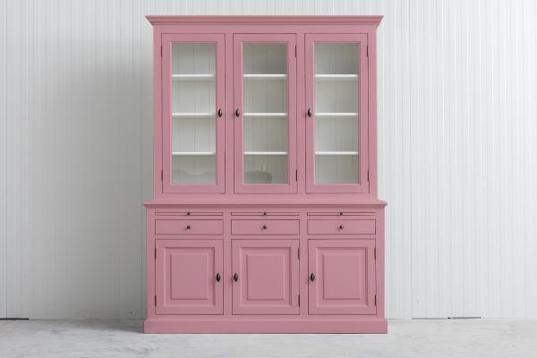 Landelijke Buffetkast Bo 2x3-deuren 3-laden Licht Roze