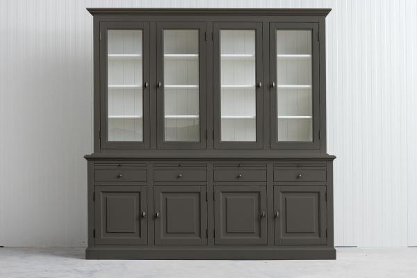 Landelijke Buffetkast Bo 2x4-deuren 4-laden Kwarts-grijs.