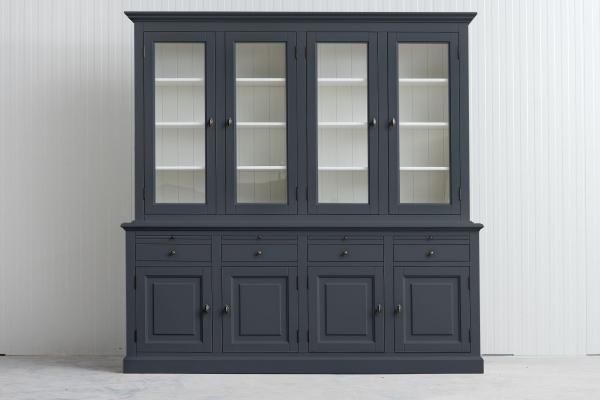 Landelijke Buffetkast Bo 2x4-deuren 4-laden Lei-grijs.