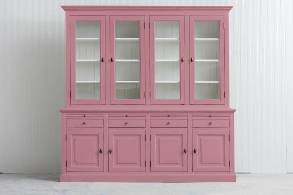 Landelijke Buffetkast Bo 2x4-deuren 4-laden Licht roze