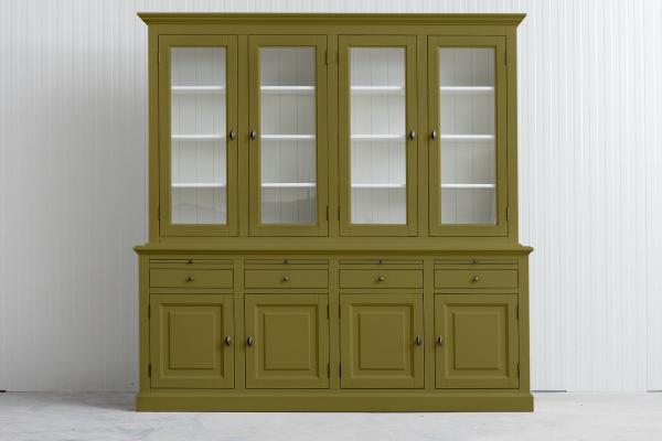 Landelijke Buffetkast Bo 2x4-deuren 4-laden Mos groen