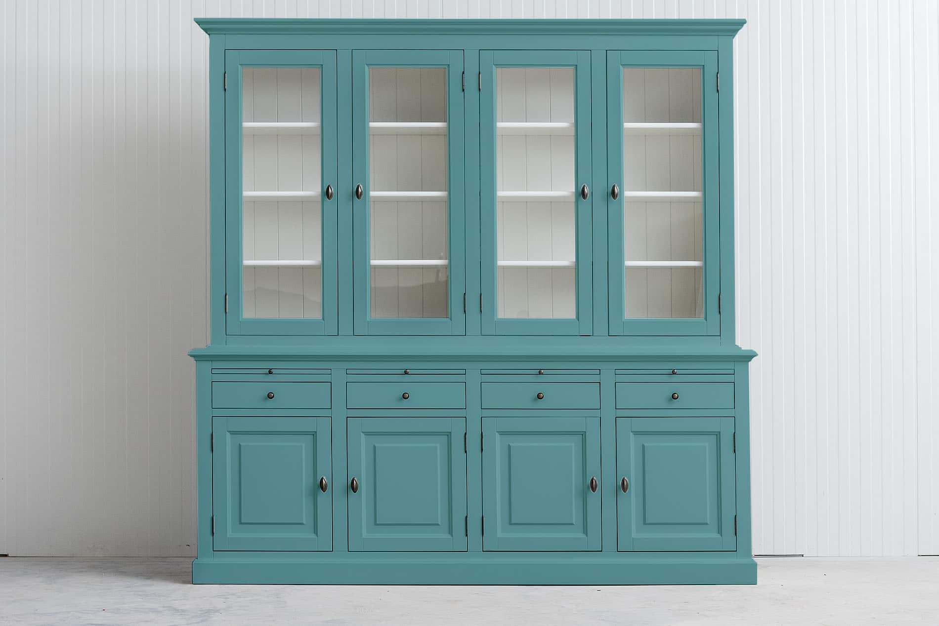 Landelijk buffetkast Bo 2×4 – Pastel Turquoise – RAL6034