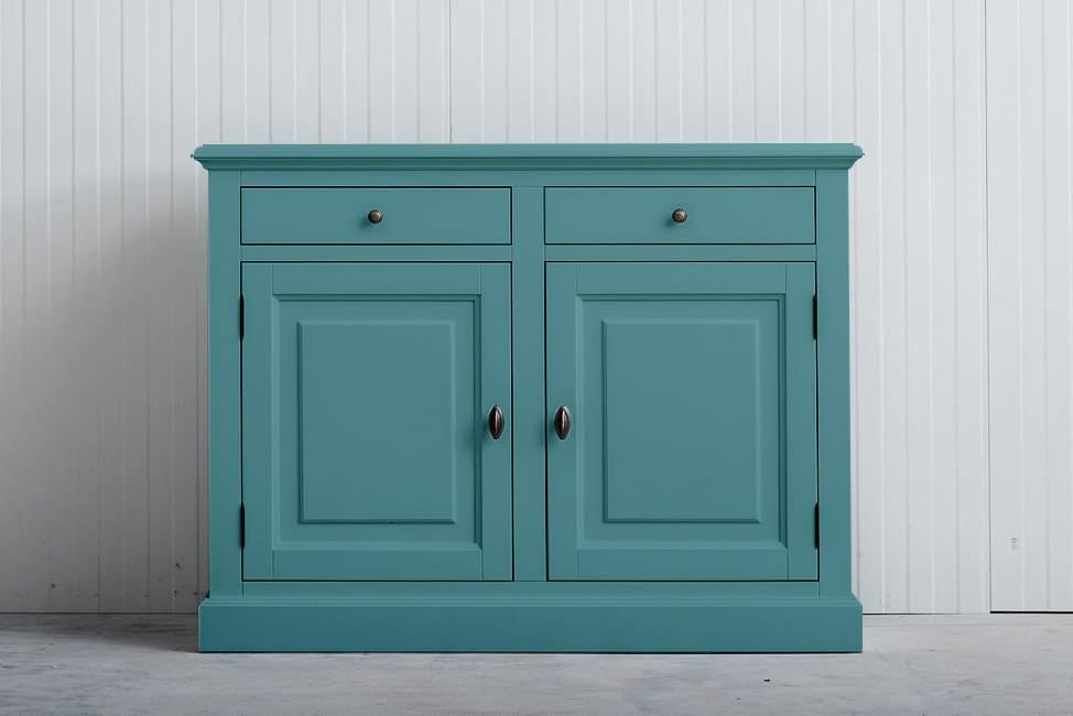 Landelijk dressoir Bo 2×2 laden Pastelturquoise (RAL 6034)