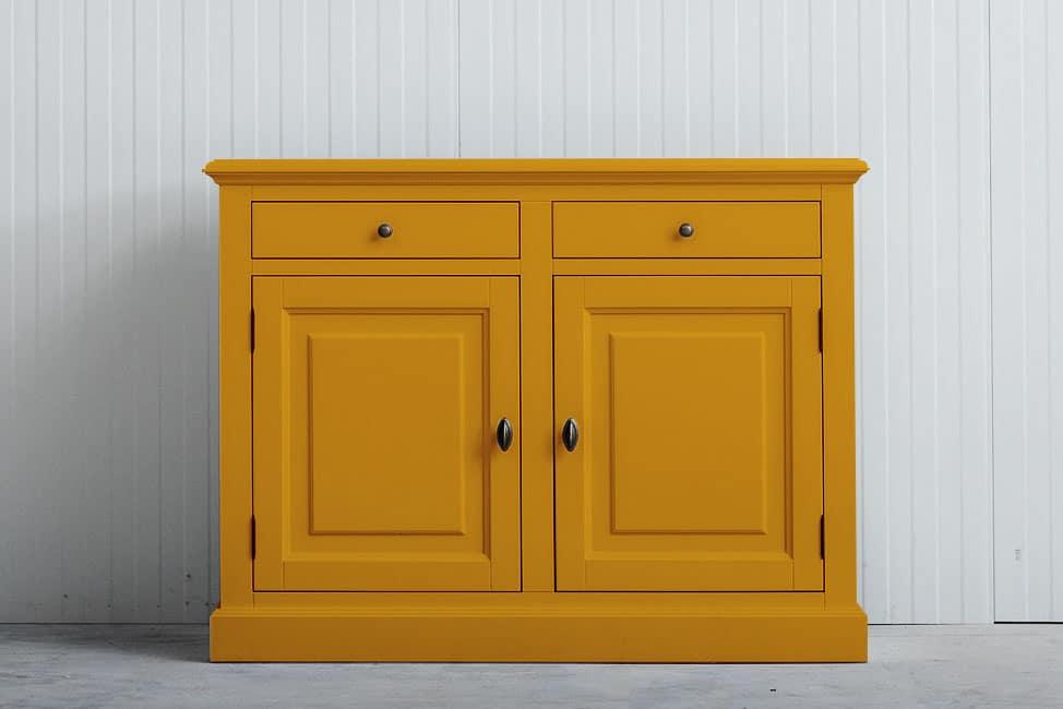 Landelijk dressoir Bo 2×2 laden goudgeel (RAL 1004)