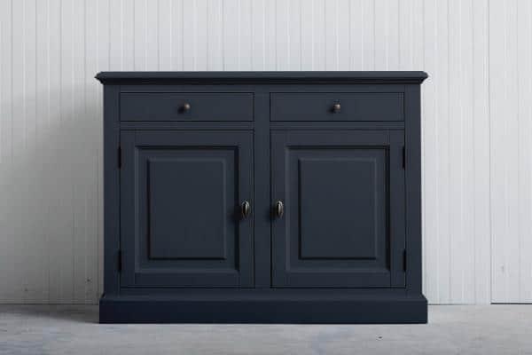 Landelijk dressoir Bo 2-deuren 2-laden Grafietgrijs.