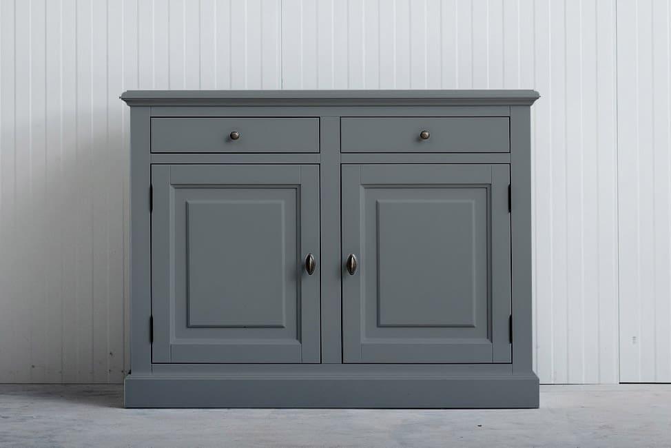 Landelijk dressoir Bo 2×2 laden grijs (RAL 7042)