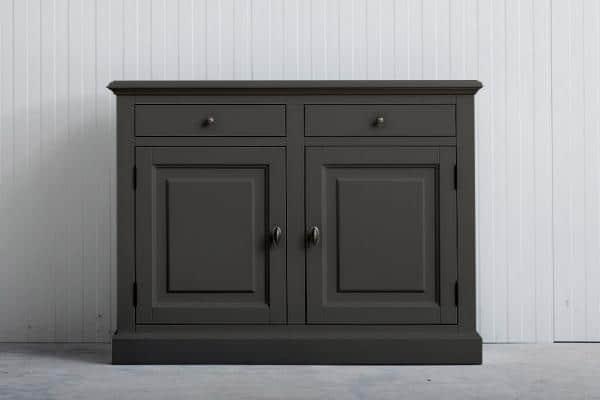 Landelijk dressoir Bo 2-deuren 2-laden Kwartsgrijs.