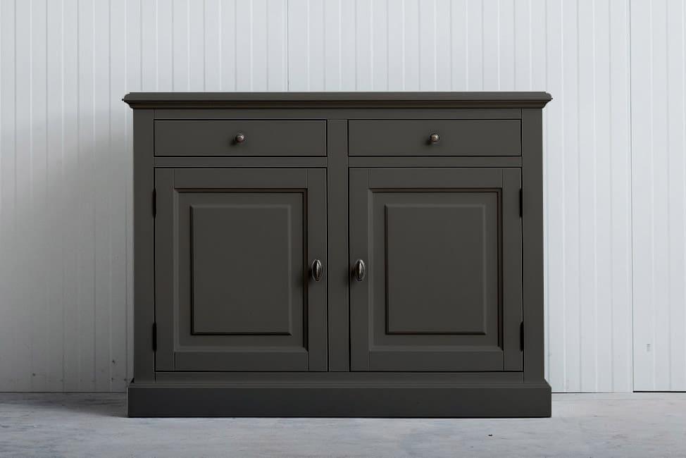 Landelijk dressoir Bo 2×2 laden kwartsgrijs (RAL 9001)