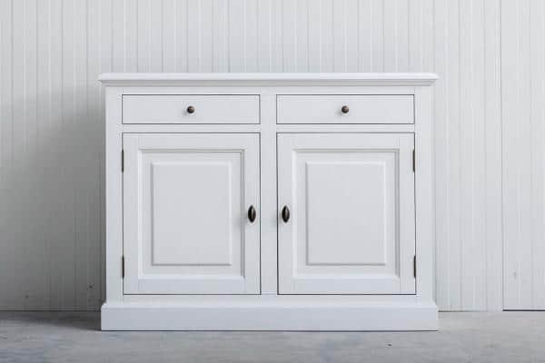 Landelijk dressoir Bo 2-deuren 2-laden Spierwit.