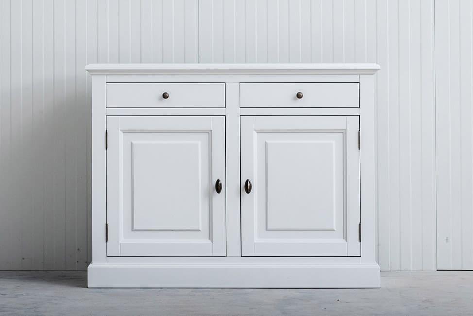 Landelijk dressoir Bo 2×2 laden wit