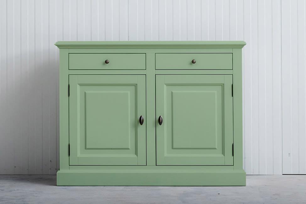 Landelijk dressoir Bo 2×2 laden witgroen (RAL 6019)