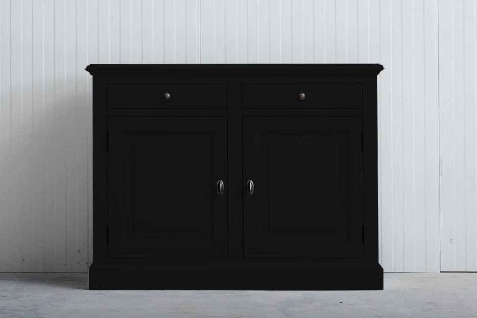 Landelijk dressoir Bo 2×2 laden zwart (RAL 9005)