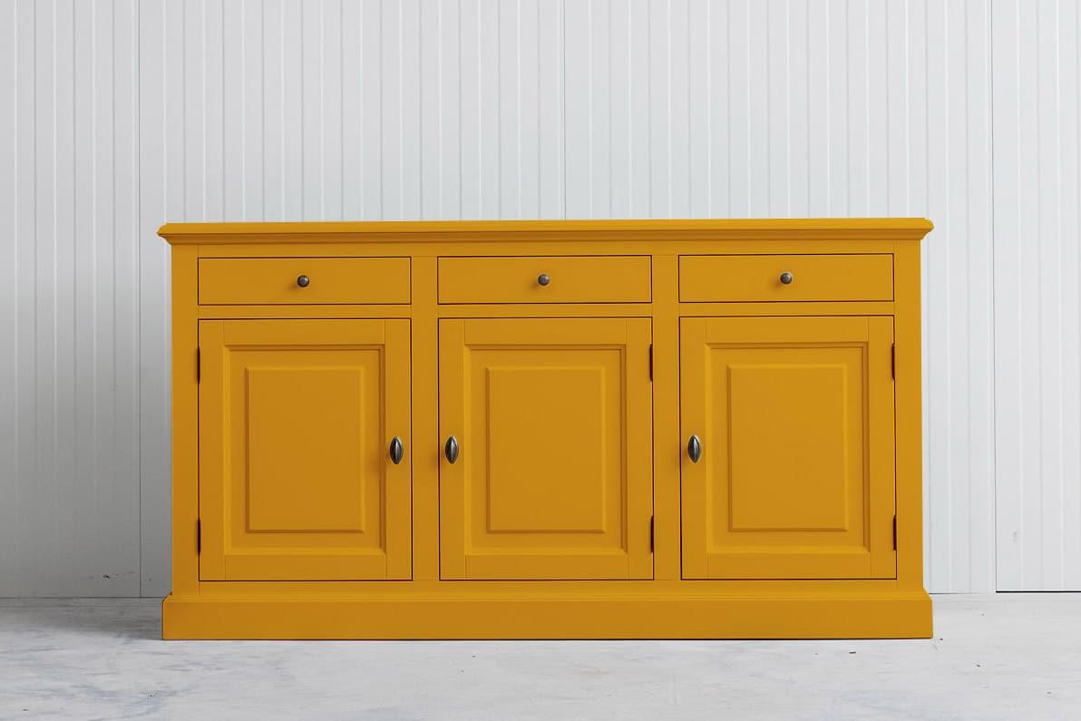 Landelijk dressoir Bo 3×3 goudgeel (RAL1004)