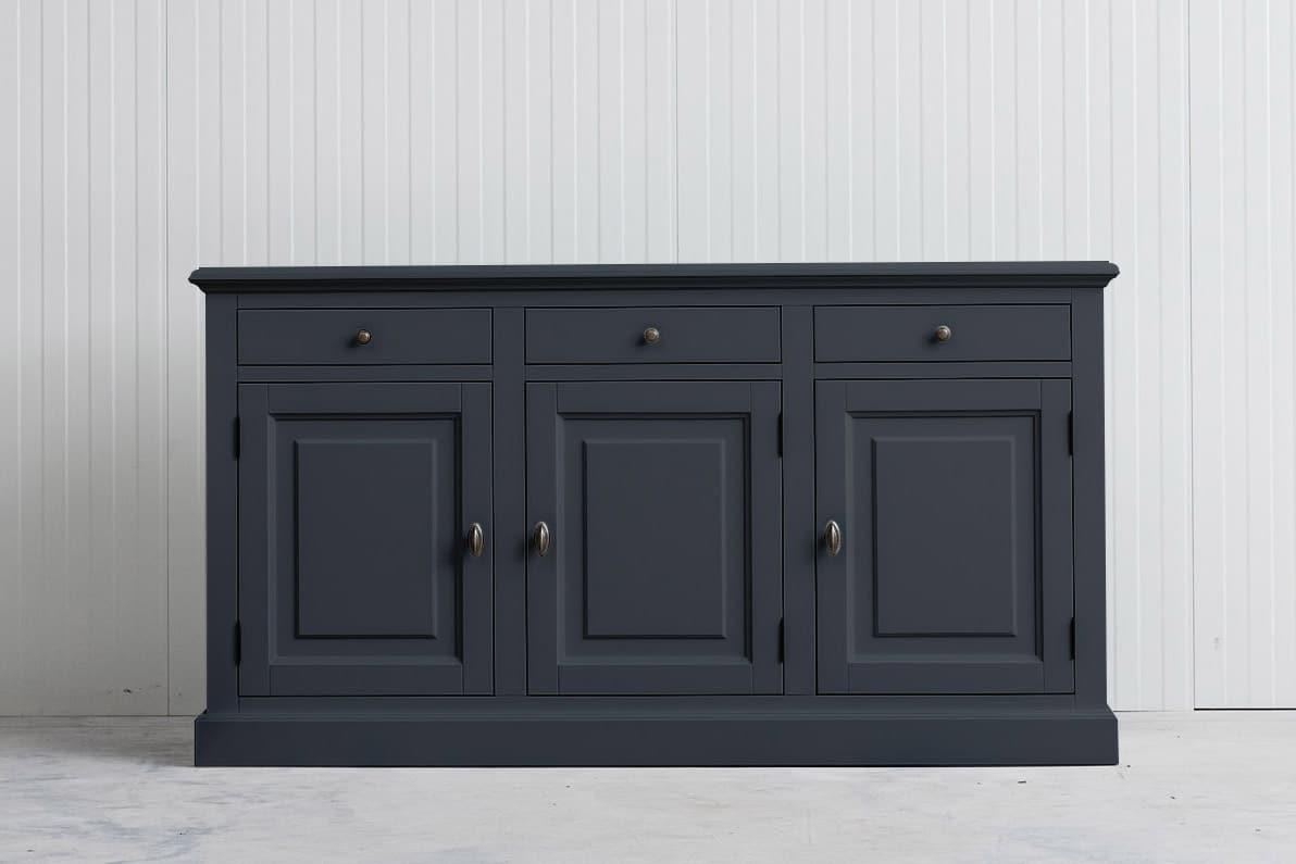 Landelijk dressoir Bo 3×3 grafietgrijs (RAL7024)