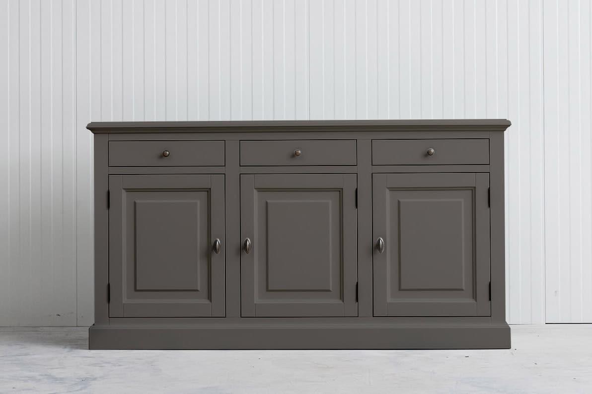 Landelijk dressoir Bo 3×3 kwartsgrijs (RAL9001)
