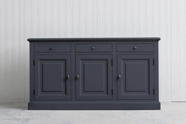 Landelijk Dressoir Bo 3-deur 3-laden Leigrijs.