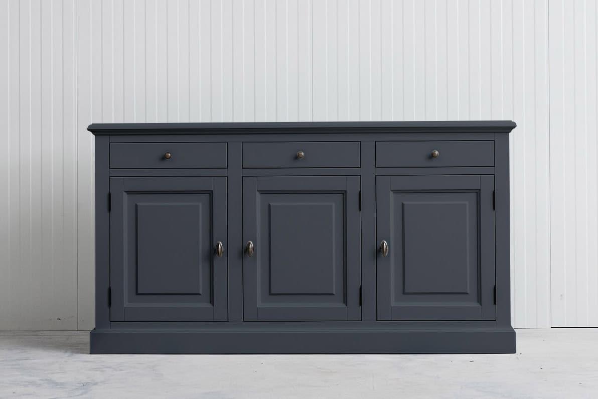 Landelijk dressoir Bo 3×3 leigrijs (RAL7015)