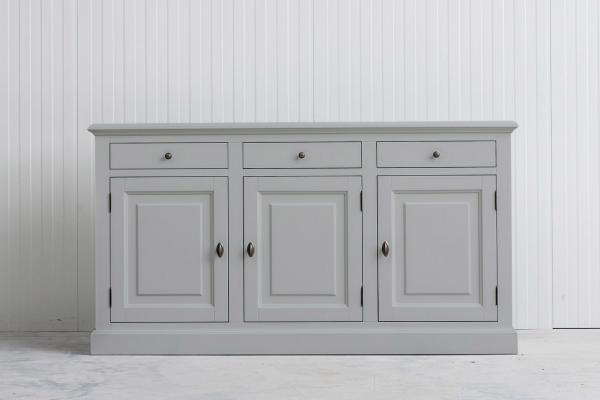 landelijk dressoir Bo 3-deuren 3- laden grijs