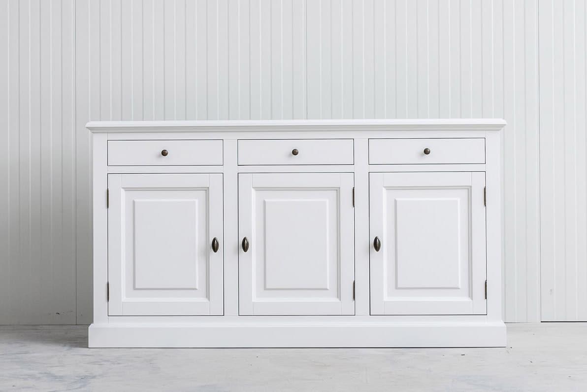 Landelijk dressoir Bo 3×3 wit