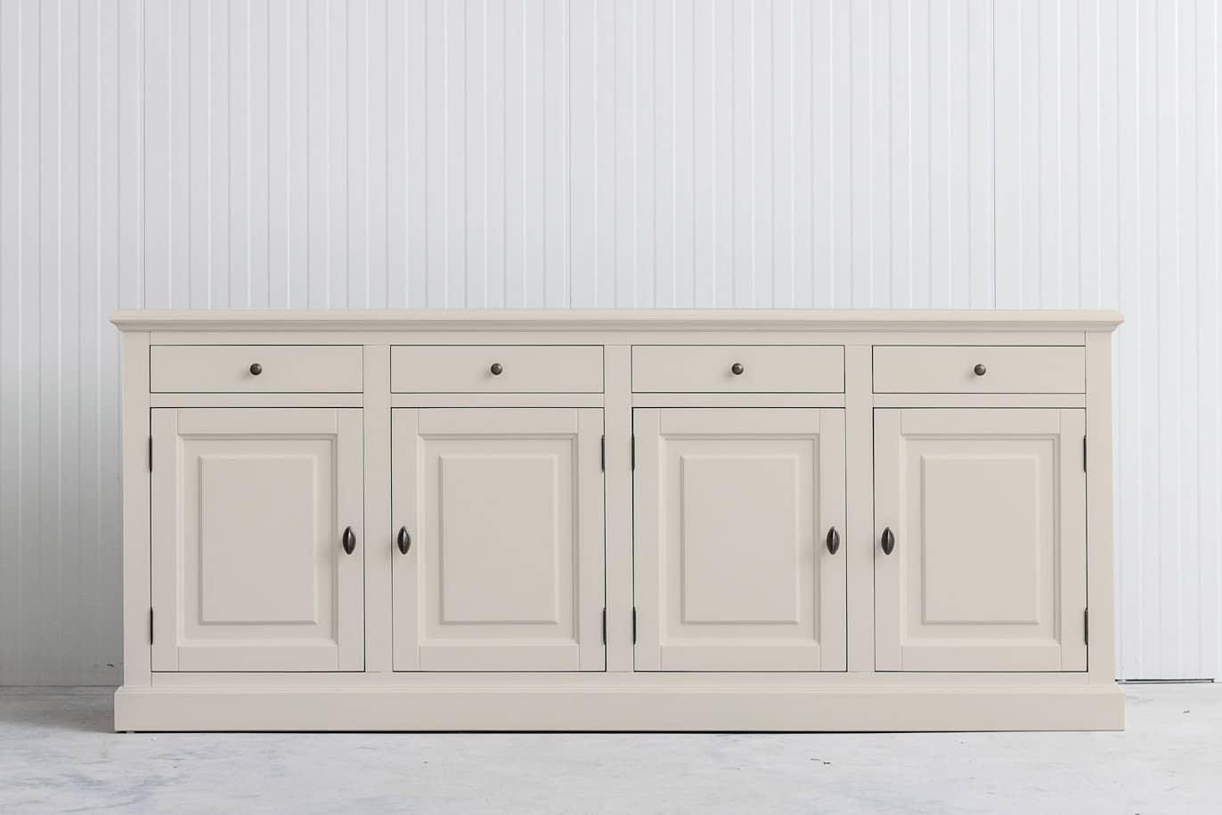 Landelijk dressoir Bo 4×4 crèmewit (RAL 9001)