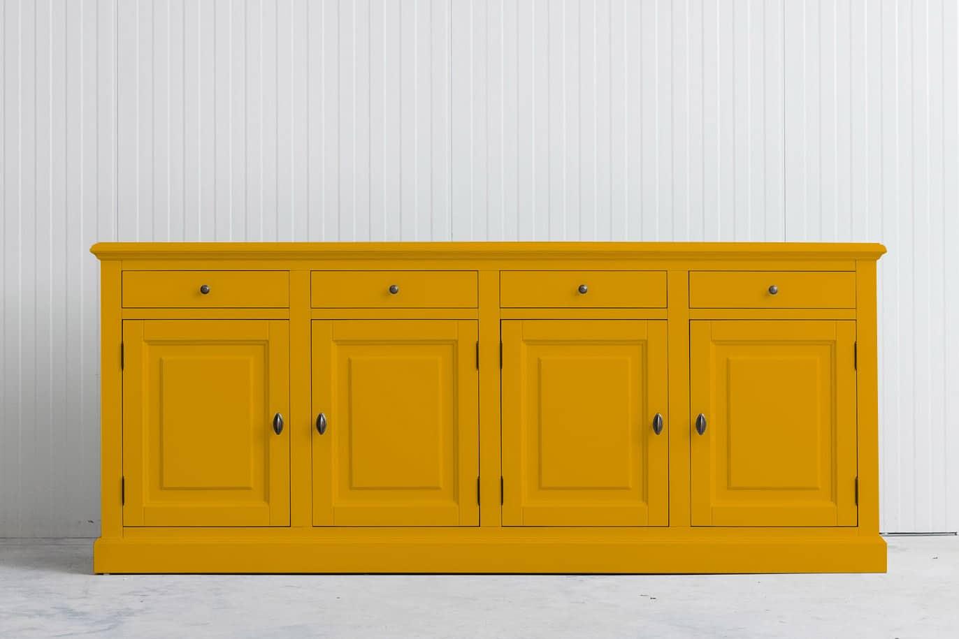Landelijk dressoir Bo 4×4 goudgeel (RAL 1004)