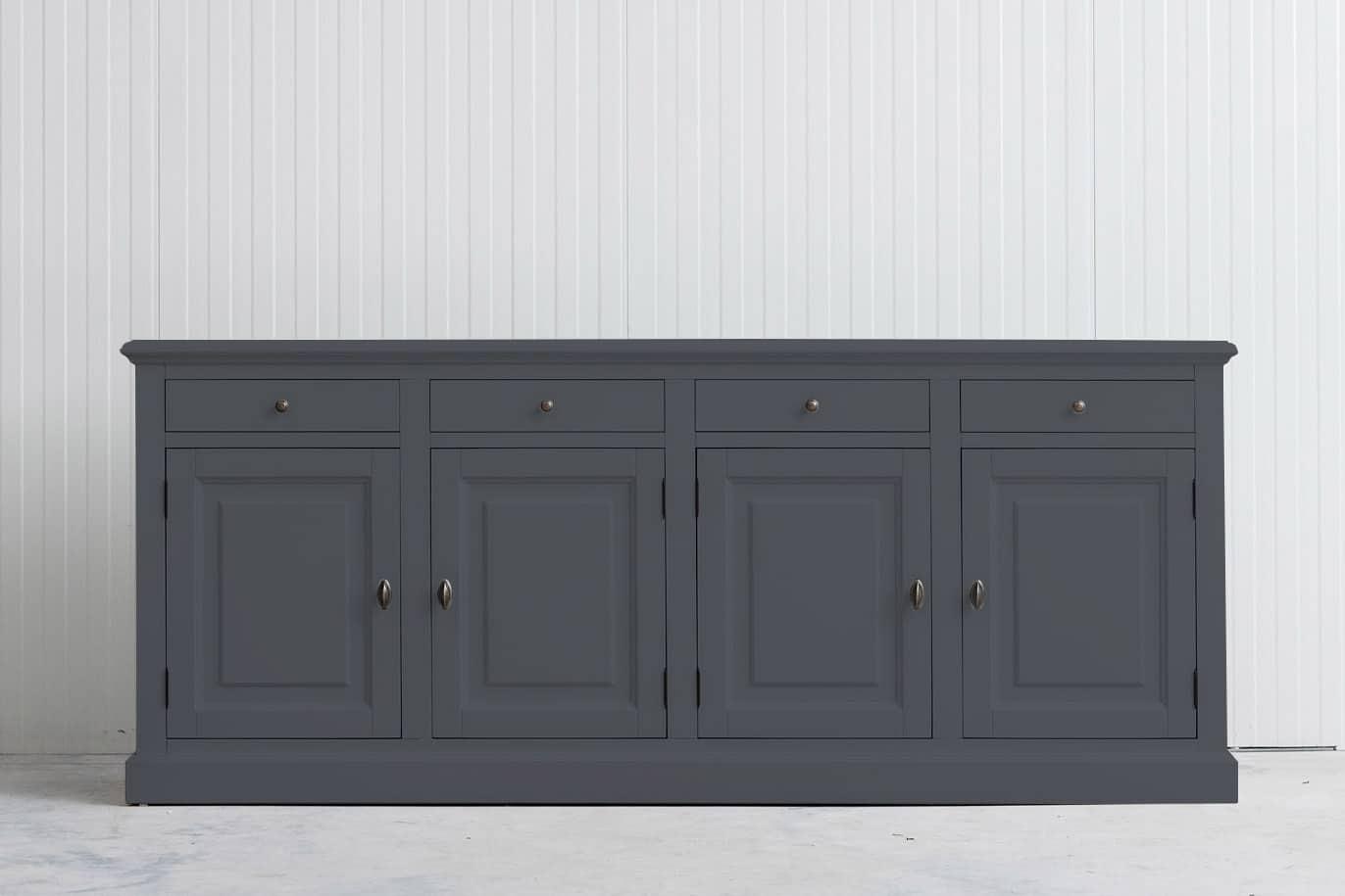 Landelijk dressoir Bo 4×4 grafietgrijs (RAL 7024)