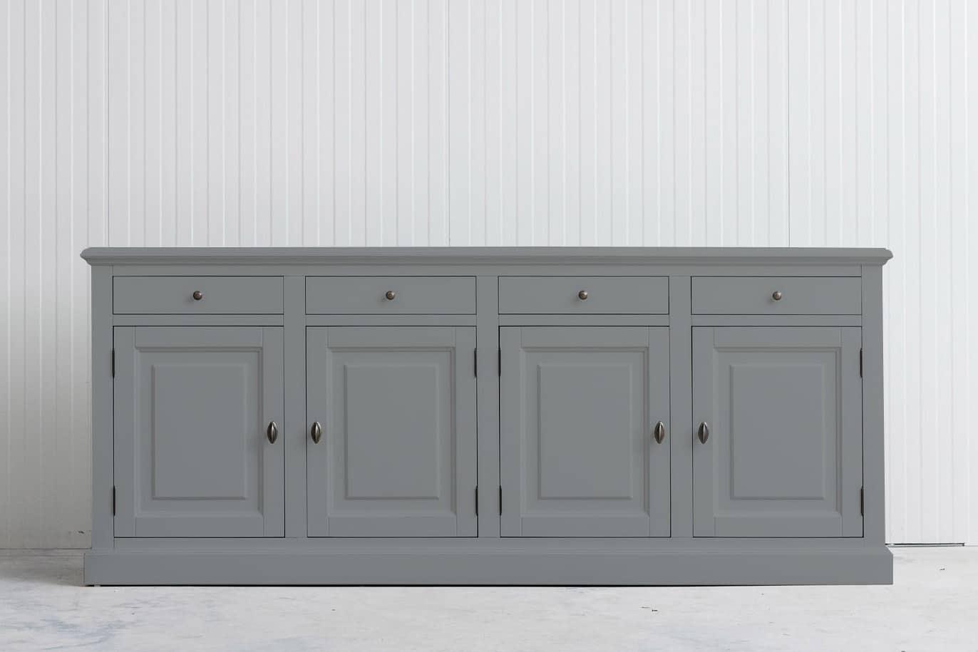 Landelijk dressoir Bo 4×4 grijs (RAL 7042)