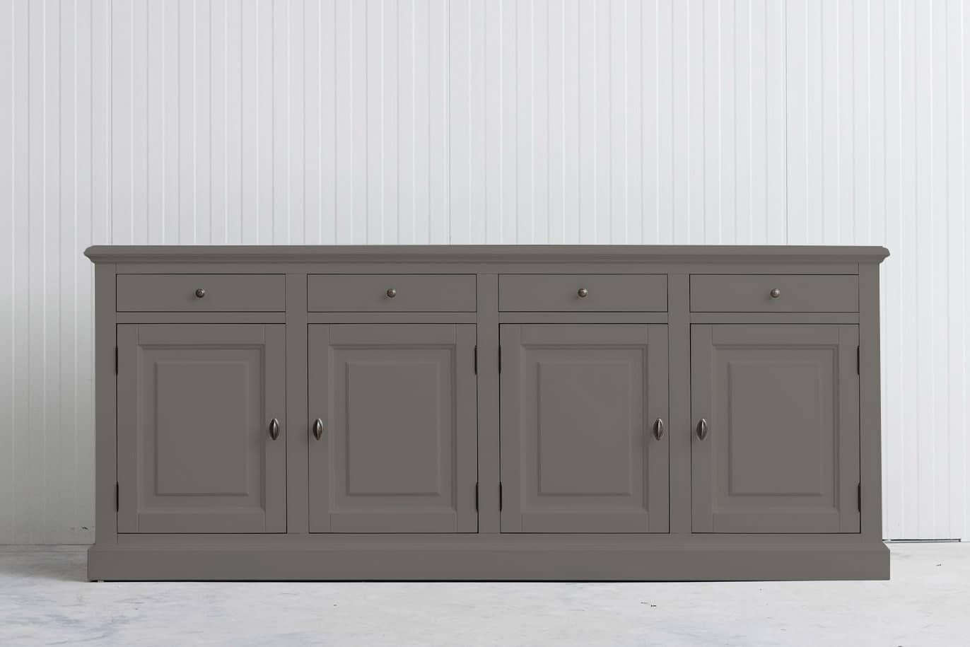 Landelijk dressoir Bo 4×4 kwartsgrijs (RAL 9001)