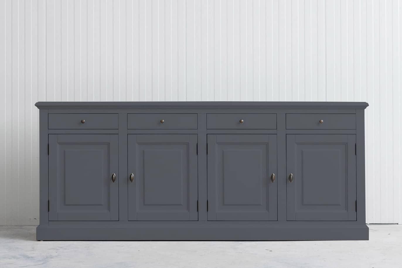 Landelijk dressoir Bo 4×4 leigrijs (RAL 7015)