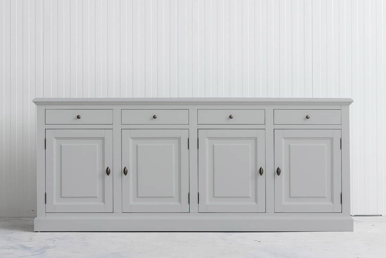 Landelijk dressoir Bo 4×4 lichtgrijs (RAL 7035)