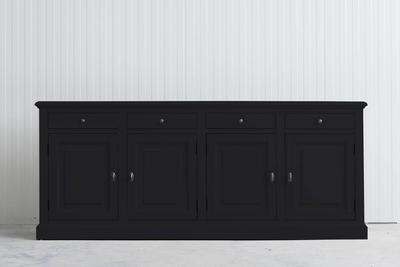 Landelijk dressoir Bo 4×4 zwart (RAL 9005)