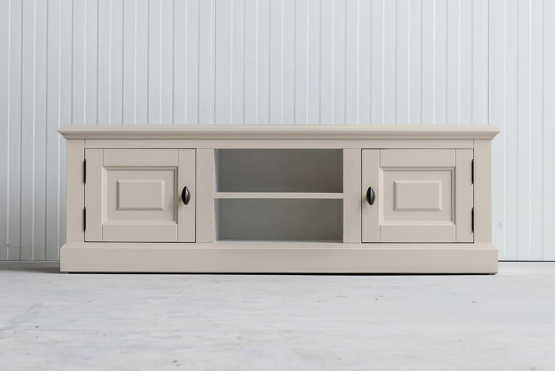 Landelijk tv-meubel Bo 2×2 crèmewit (RAL 9001)