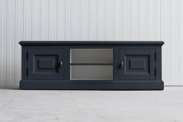 Landelijk Tv-meubel Bo 2-deuren 2-open vak Grafietgrijs.