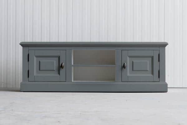 Landelijk tv-meubel Bo 2-deuren 2-open vak grijs