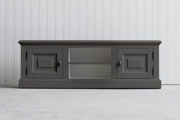 Landelijk Tv-meubel Bo 2-deuren 2-open vak Kwartsgrijs.